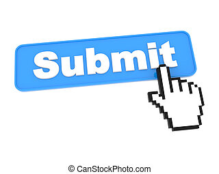 Web Submit Button. Isolated on White Background.