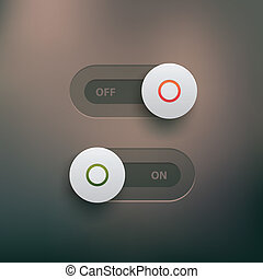Web switches - Vector ui elements - on and off sliders