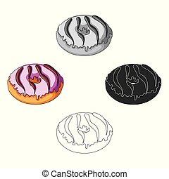 web., symbol, katzenkinder, abbildung, vektor, style.kitty, , ikone, karikatur, bestand