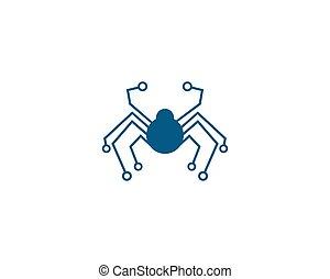 web, tecnologia, ragno