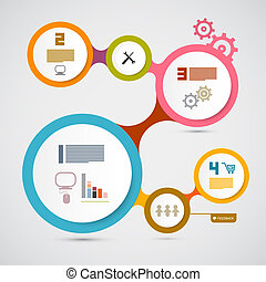 Web Template - Circle Paper Vector Infographic Layout
