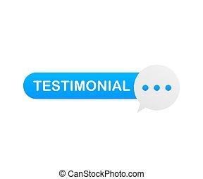 Web testimonial icon design element. Vector illustration.