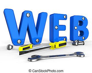 Web Tools Indicates Internet Softwares And Www - Web Tools ...