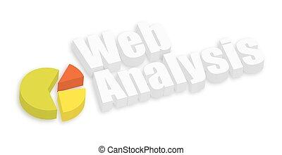 web, torta, analisi, grafico
