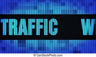 Web Traffic Front Text Scrolling LED Wall Pannel Display...