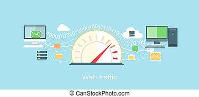 Web Traffic Internet Icon Flat Isolated - Web traffic ...