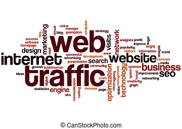 Web traffic word cloud