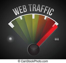 web, traffico, a, il, max, illustrazione, disegno
