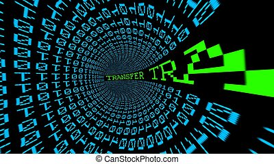 Web transfer data tunnel