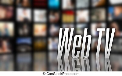 Web TV television concept LCD screen panels