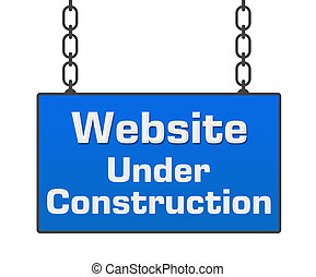 Web Under Construction Signboard - Website under...
