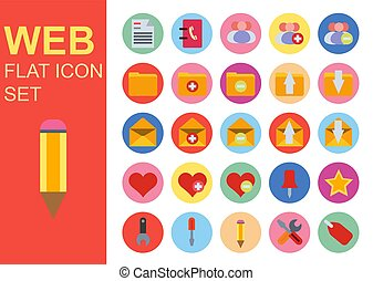 Web universal flat business icons set vector illustration design. General symbol application