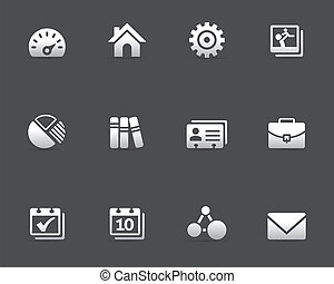 web, universeel, iconen