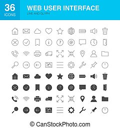 Web User Interface Line Web Glyph Icons