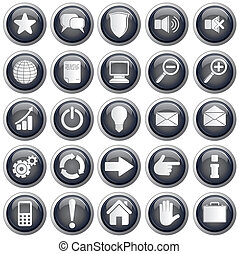 web, utile, icone