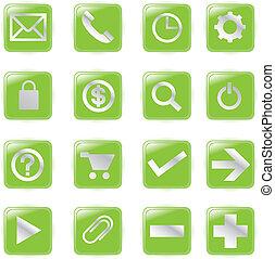 web, vector, bestand, iconen