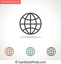 web vector icon isolated on white background
