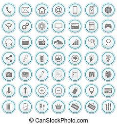 Web vector icons set.