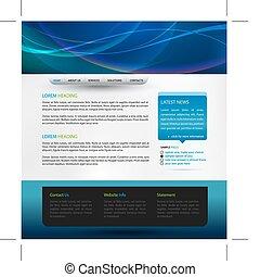 web, vector, ontwerp, mal