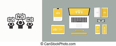 web, -, vektor, signboards, bekundung, populär, ikone