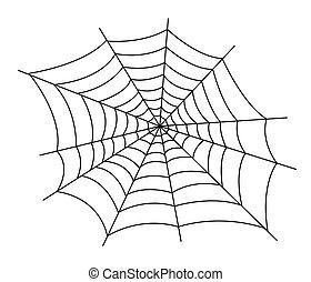 web, vektor, spinne, abbildung