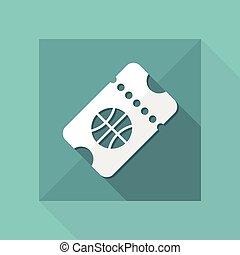 web, -, vettore, biglietto, sport, evento, icona