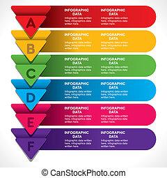 web, vettore, colorito, testata