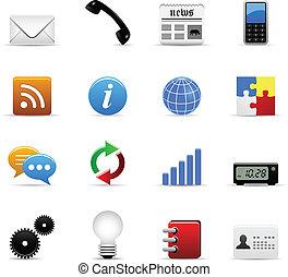web, vettore, icone