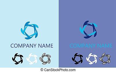 web, vettore, logotipo