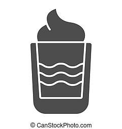 web, vettore, stile, white., eps, isolato, sbarra, urente, illustrazione, disegnato, app., disegno, glyph, solido, cocktail, bevanda, icon., 10., b52