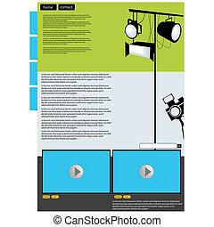 web, visuale, arte, pagina, disposizione