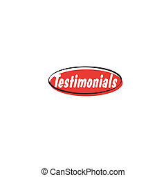 Web website navigation button retro graphic testimonials.