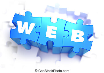 WEB - White Word on Blue Puzzles.