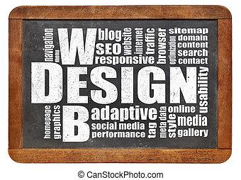 web, wolke, wort, design