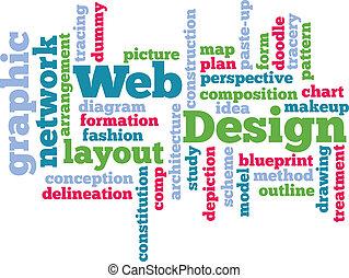 web, woord, ontwerp, wolk