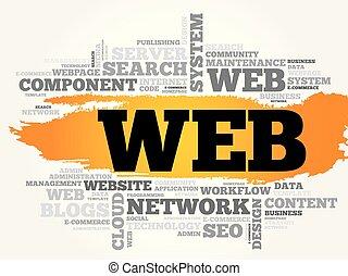 WEB word cloud