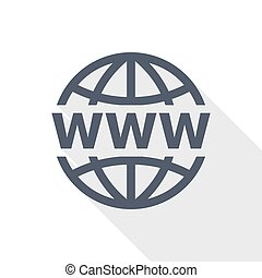 Web, www and internet flat design vector icon