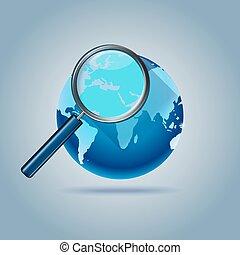 web zoektocht, globaal, computer