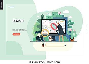 web zoektocht, zakelijk, reeks, -, mal, pagina