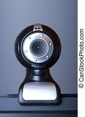 webcam, écran, informatique