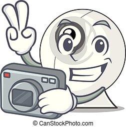 webcam , απομονωμένος , γελοιογραφία , φωτογράφος