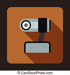 webcam, スタイル, アイコン, 平ら