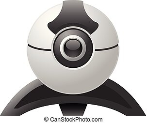 webcam, 網, -, カメラ, ビデオ, チャット