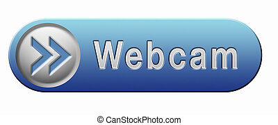 webcam button - webcam watch live online video button or...