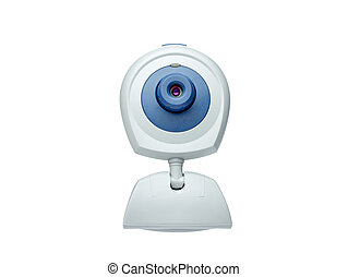 webcam front view isolated on white