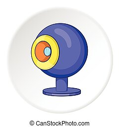 Webcam icon, cartoon style
