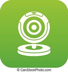 Webcam icon digital green