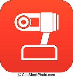 Webcam icon digital red