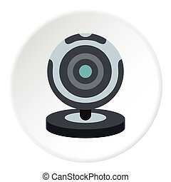 Webcam icon, flat style