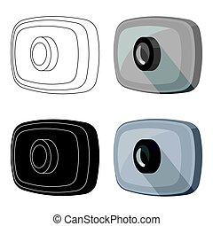 Webcam icon in cartoon style isolated on white background.